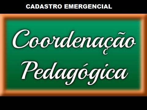 CADASTRO EMERGENCIAL PARA SUBSTITUIÇÃO DE SUPORTE PEDAGÓGICO - COORDENADOR (A) PEDAGÓGICO (A)