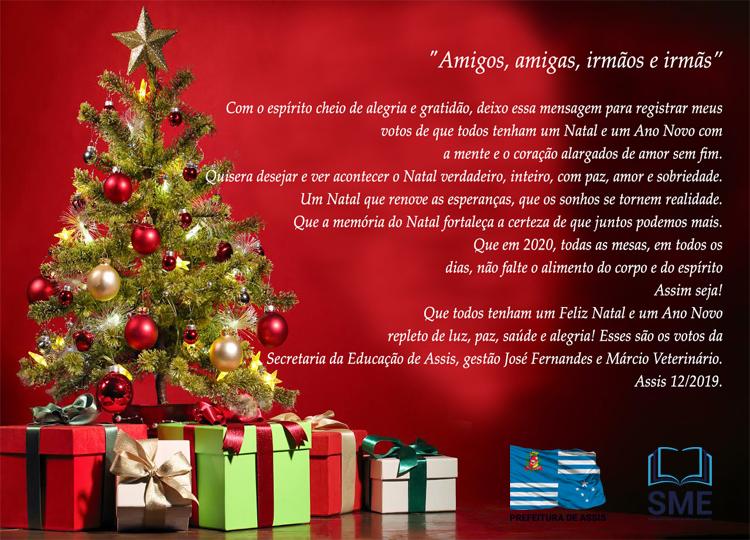 Feliz Natal e um Ano Novo repleto de luz