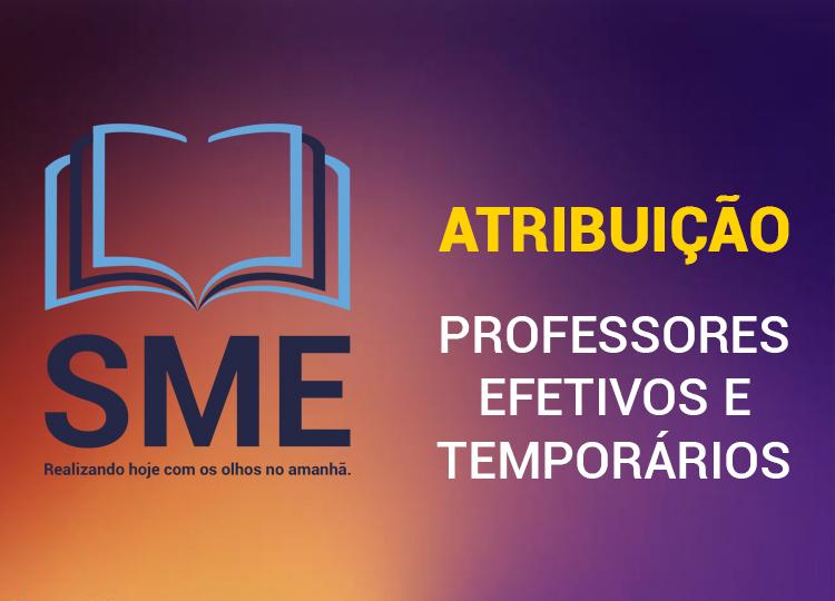 Atribuição Classes/aulas de Professor Efetivo e Temporário