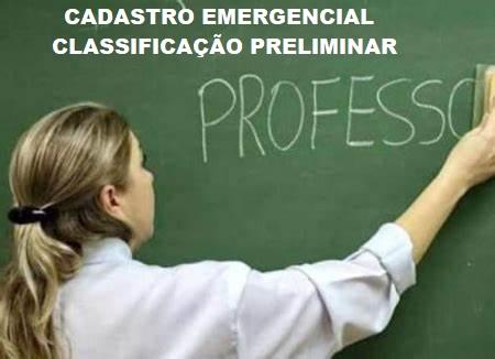 CADASTRO EMERGENCIAL INSCRIÇÕES DEFERIDAS, INDEFERIDAS E CLASSIFICAÇÃO PRELIMINAR