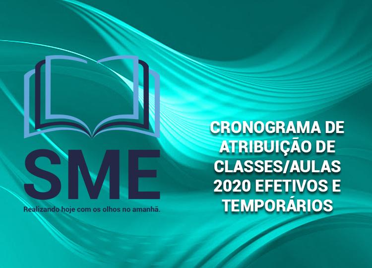 Cronograma de Atribuição de Classes e Aulas