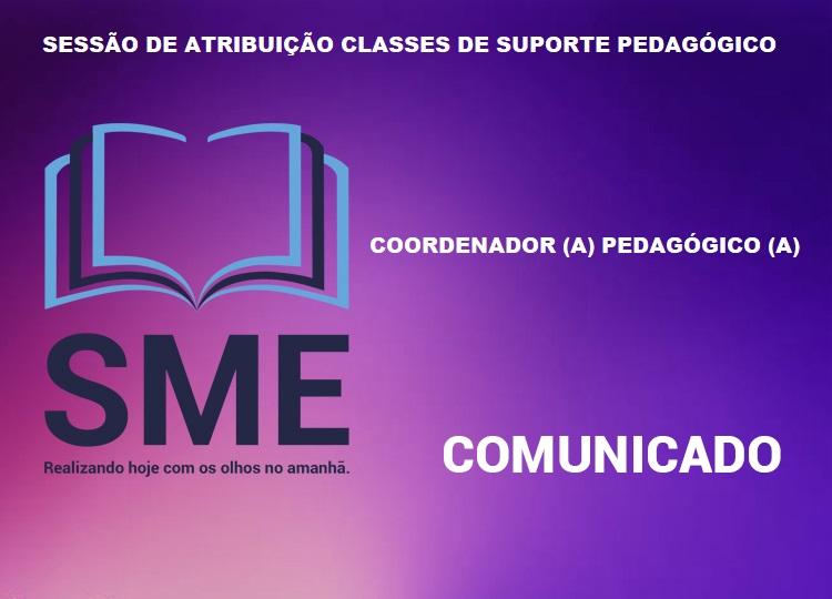 SESSÃO DE ATRIBUIÇÃO CLASSE DE SUPORTE PEDAGÓGICO - COORDENADOR (A) PEDAGÓGICO (A)