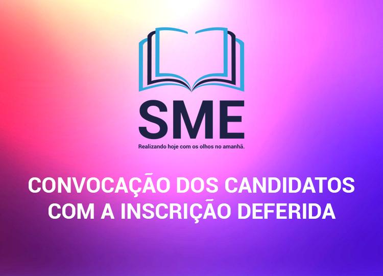 Convocação dos candidatos com a inscrição deferida