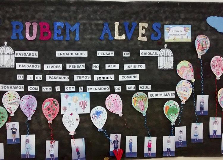 Projeto escolar apresenta vida e obra do patrono da escola Rubem Alves