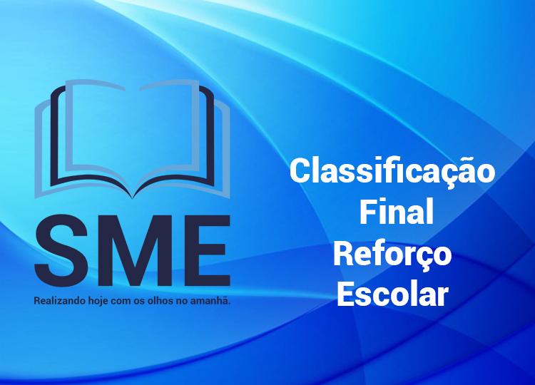 Classificação Final Reforço Escolar 2020