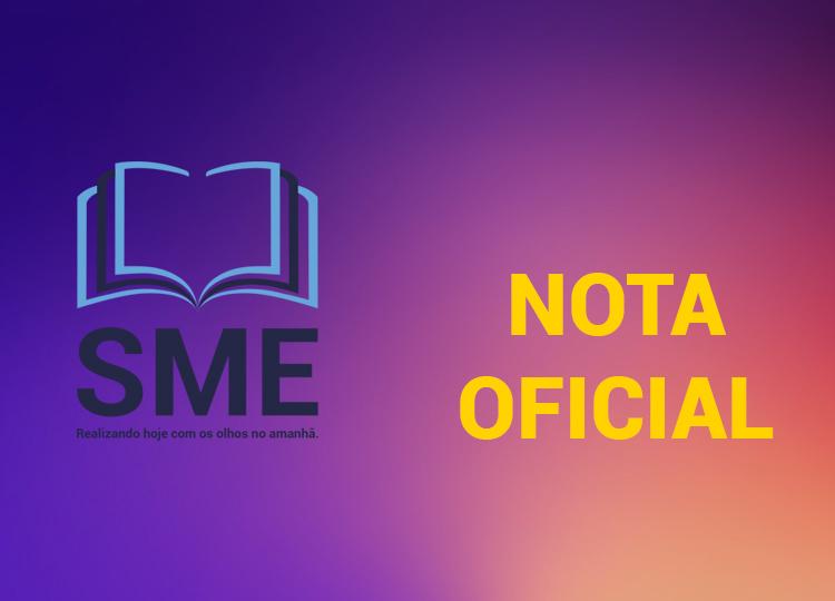 Nota Oficial da Secretaria Municipal da Educação de Assis