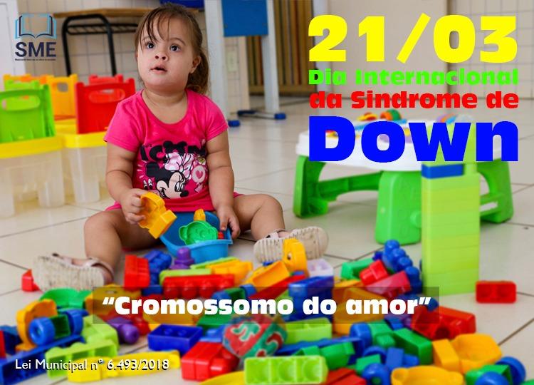 """Educação realiza proposta pedagógica alusiva à campanha """"Cromossomo do Amor"""""""