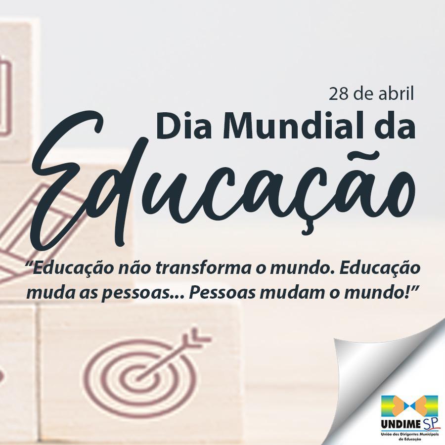 A Secretaria Municipal da Educação saúda a todos os profissionais da Educação nesse Dia Mundial da Educação
