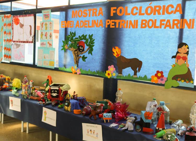 Projeto folclórico da EMEI Adelina compartilha momentos do ambiente escolar com as famílias