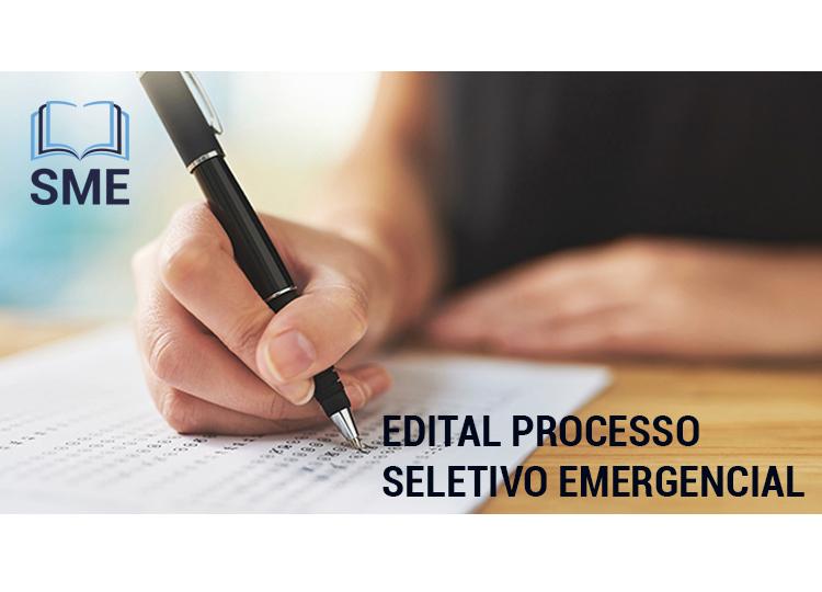 Edital para Processo Seletivo Simplificado Emergencial