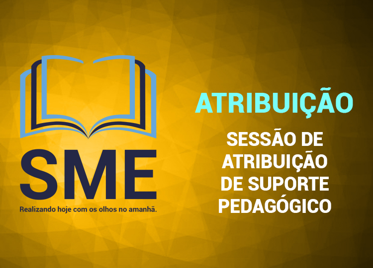 Sessão de Atribuição de Suporte Pedagógico nº 05/2020